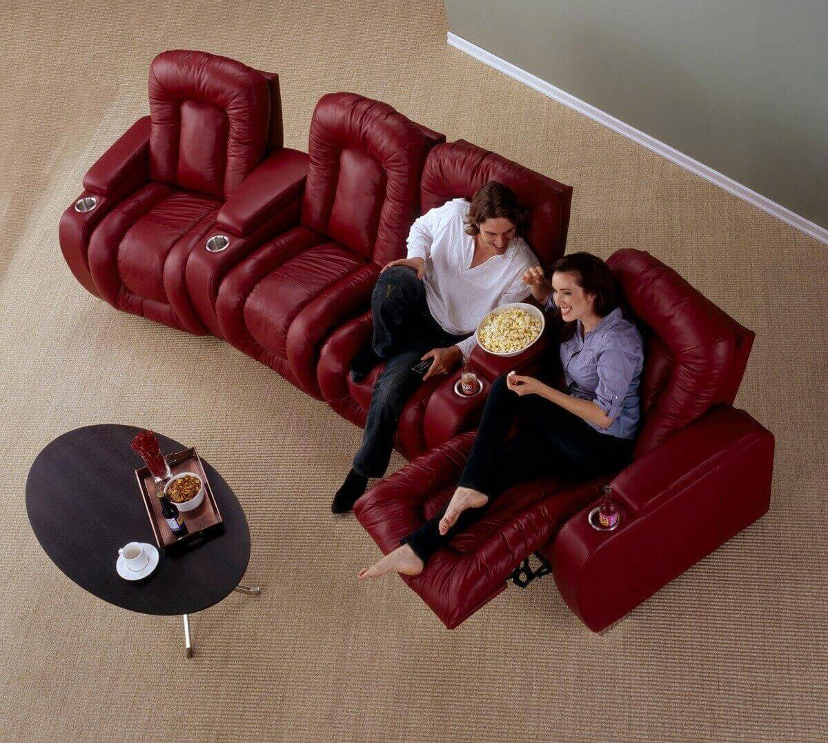 theater leather sofa