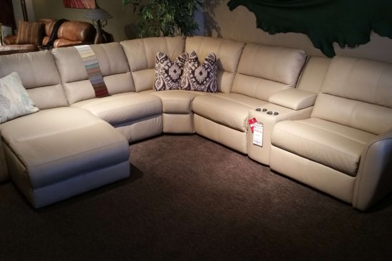 Power-reclining-leather-sectional-chaise