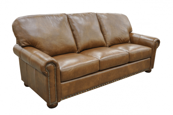 Traditional-genuine-leather-sofa's-Michigan-bun-leg