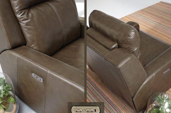 Leather-power-headrest
