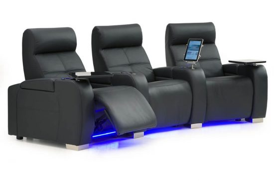 Modern-style-leather-home-theater-seating