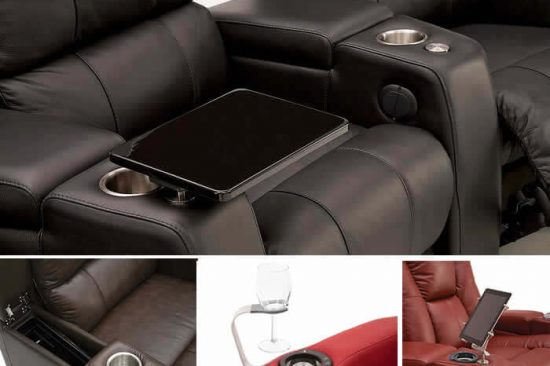 Leather-Home-theater-seats-base-shaker-flex-light-swivel-table