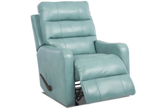 Blue-Leather-Recliner-Michigan-Novi-Rochester-Utica