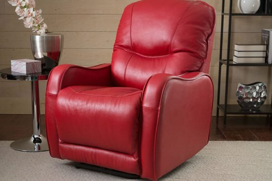 Red-leather-recliner-Michigan-natural