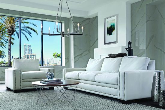 White-leather-contemporary-leather-sofa-Michigan