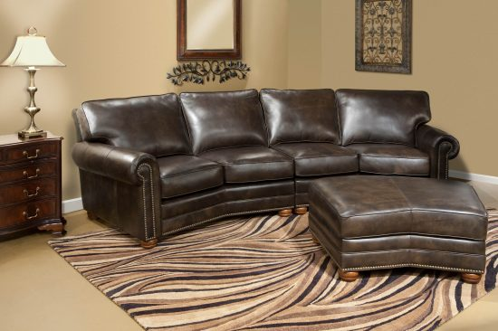 Dark-brown-leather-sofas-bun-legs-michigan