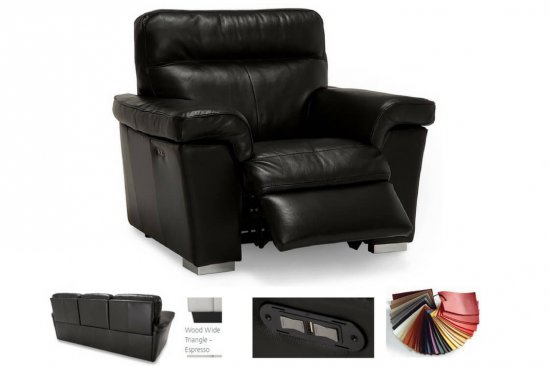 Contemporary-power-leather-recliner-power-headrest-USB
