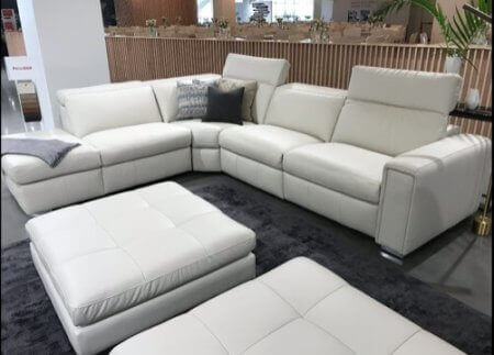 contemporary leather recliner sectionals