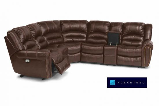 flexsteel-leather-reclining-sectionals