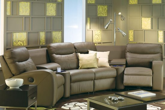 Brown-recline-leather-sectionals-michigan