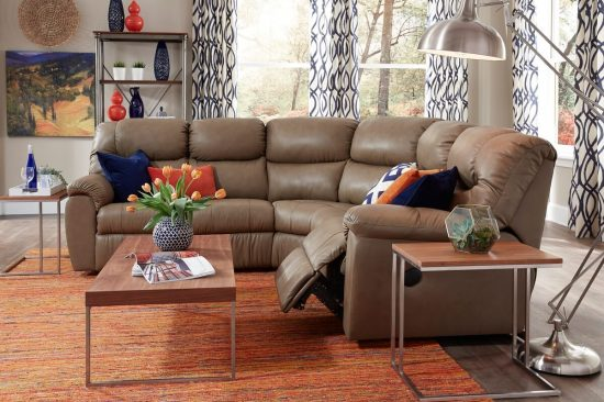 blue-grey-off-white-leather-reclining-sectionals