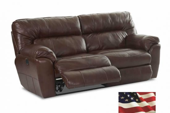 made in usa leather reclining sofas