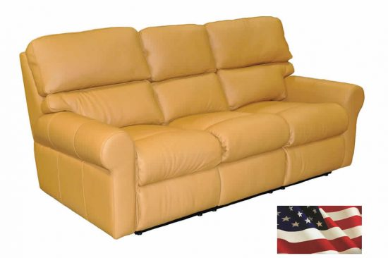 Gold-leather-sofa-reclining-made-in-america