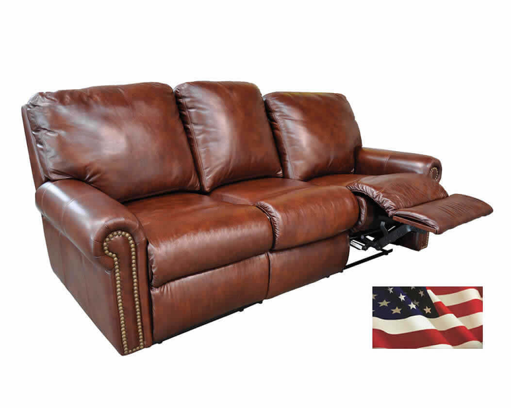 Brown Leather Sofa Recliner Reclining Sofas Manual