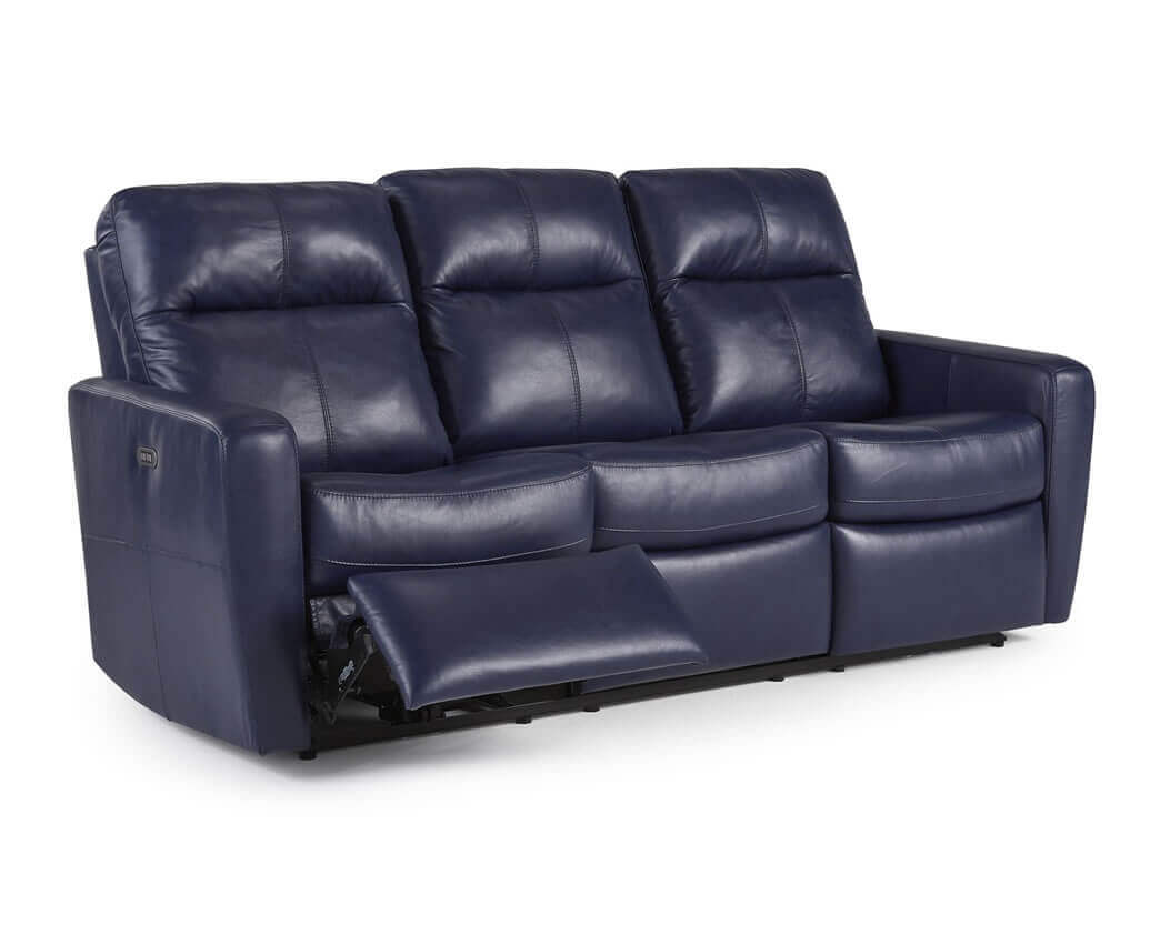 Blue reclining sofa blue reclining sofa pinterest thesofa for Blue leather sofa