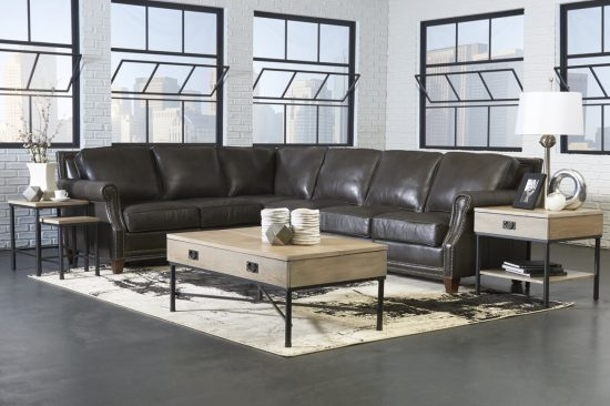 grey-leather-sectionals