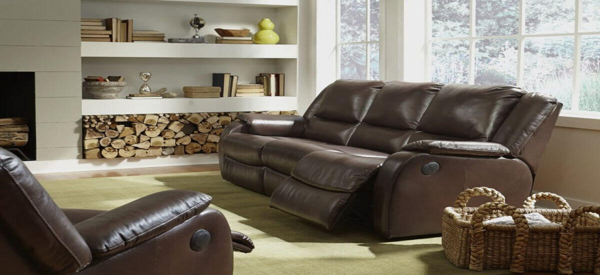 Flexsteel Reclining Leather Sofa