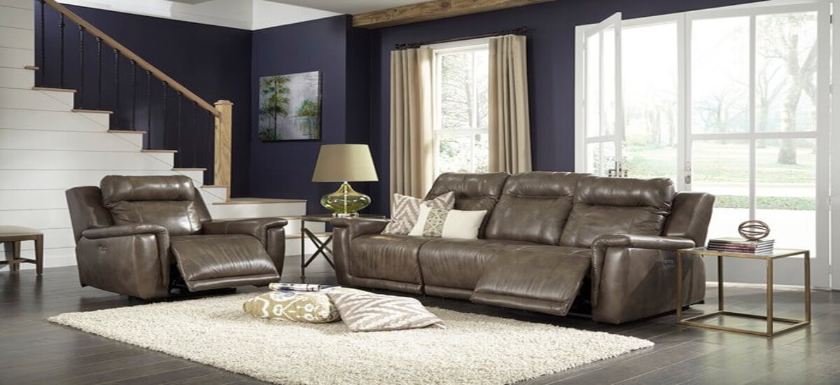 Reclining Leather Sofas Michigans Best Be Seated Leather - Recliner leather sofa