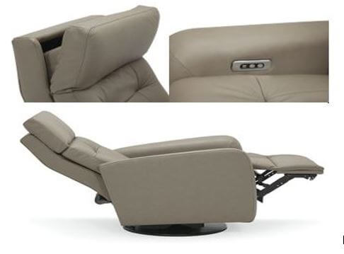 power headrest leather recliner