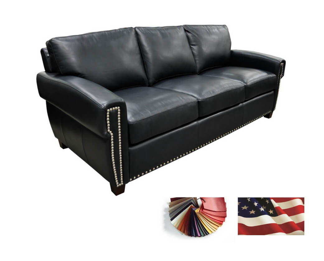 black-grey-brown-genuine-best-leather-sofa-michigan - Be Seated ...
