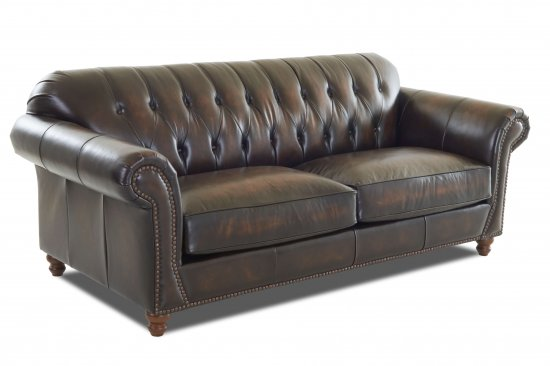 Traditional-classic-genuine-leather-sofas-button-tufted-nailheads