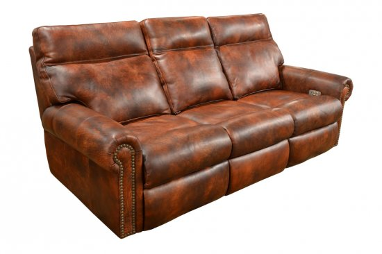 Two-toned-best-quality-reclining-leather-sofas-loveseats