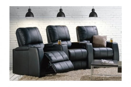 Black-leather-home-theater-seating-michigan