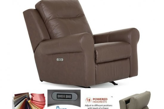 Michigan-best-leather-recliners-swivel-rocker-power-headrest