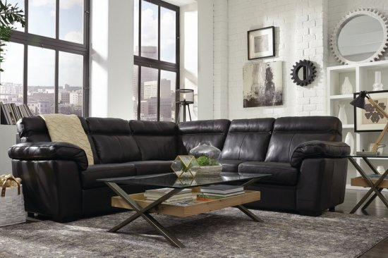Padded-arms-natural-leather-sofa-Detroit-michigan