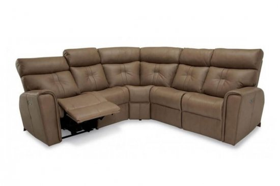 power reclining sectional with power headrest