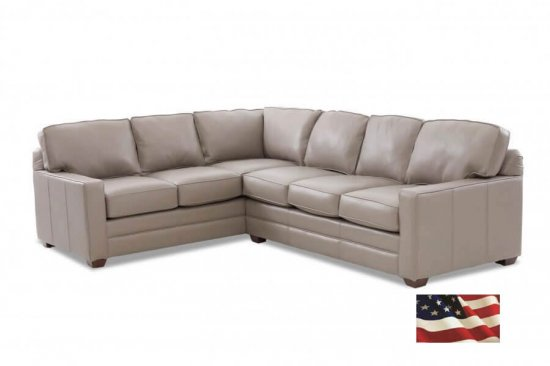 grey leather sectionals, Custom Track Collection