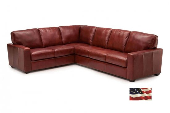 Red-leather-sectionals-L-shaped-burgundy