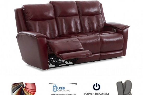 triple power reclining leather sofas