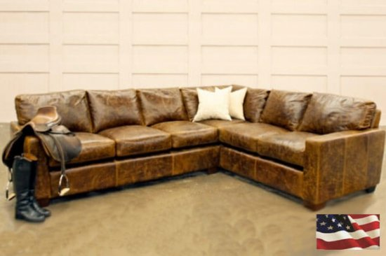 anile dyed leather sectionals
