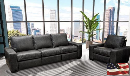 West Coast Contemporary Leather Sofa Furniture
