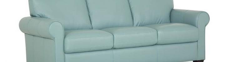 baby blue aqua color genuine leather sofa be seated leather furniture